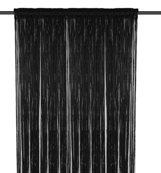 String Curtain, (1m Width x 3m Height), Black