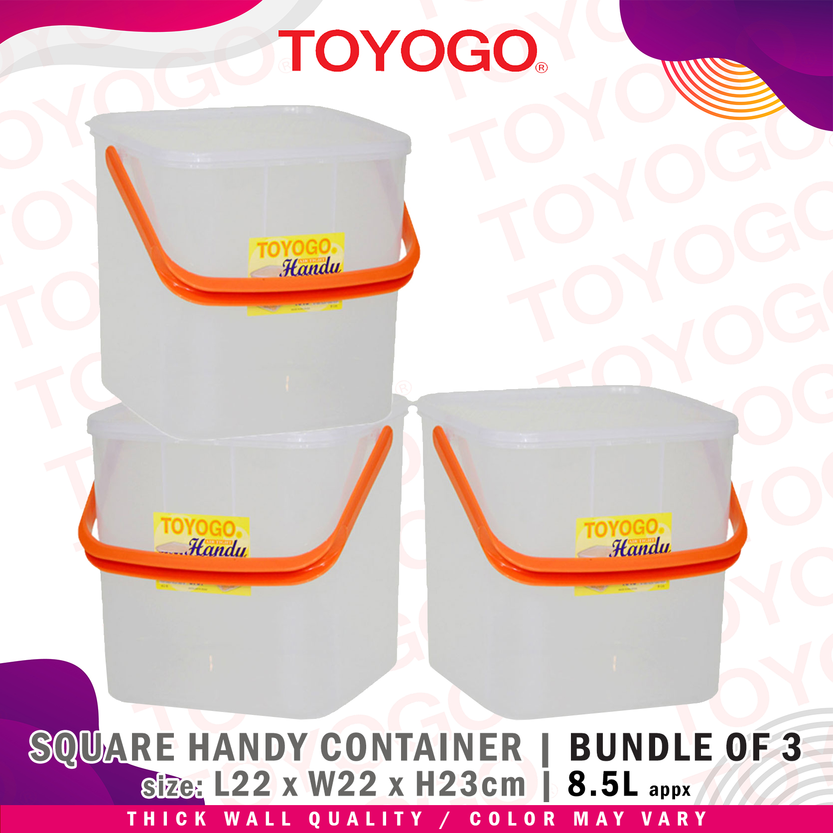 Toyogo Medium Handy Container (Bundle of 3) (4015) W21
