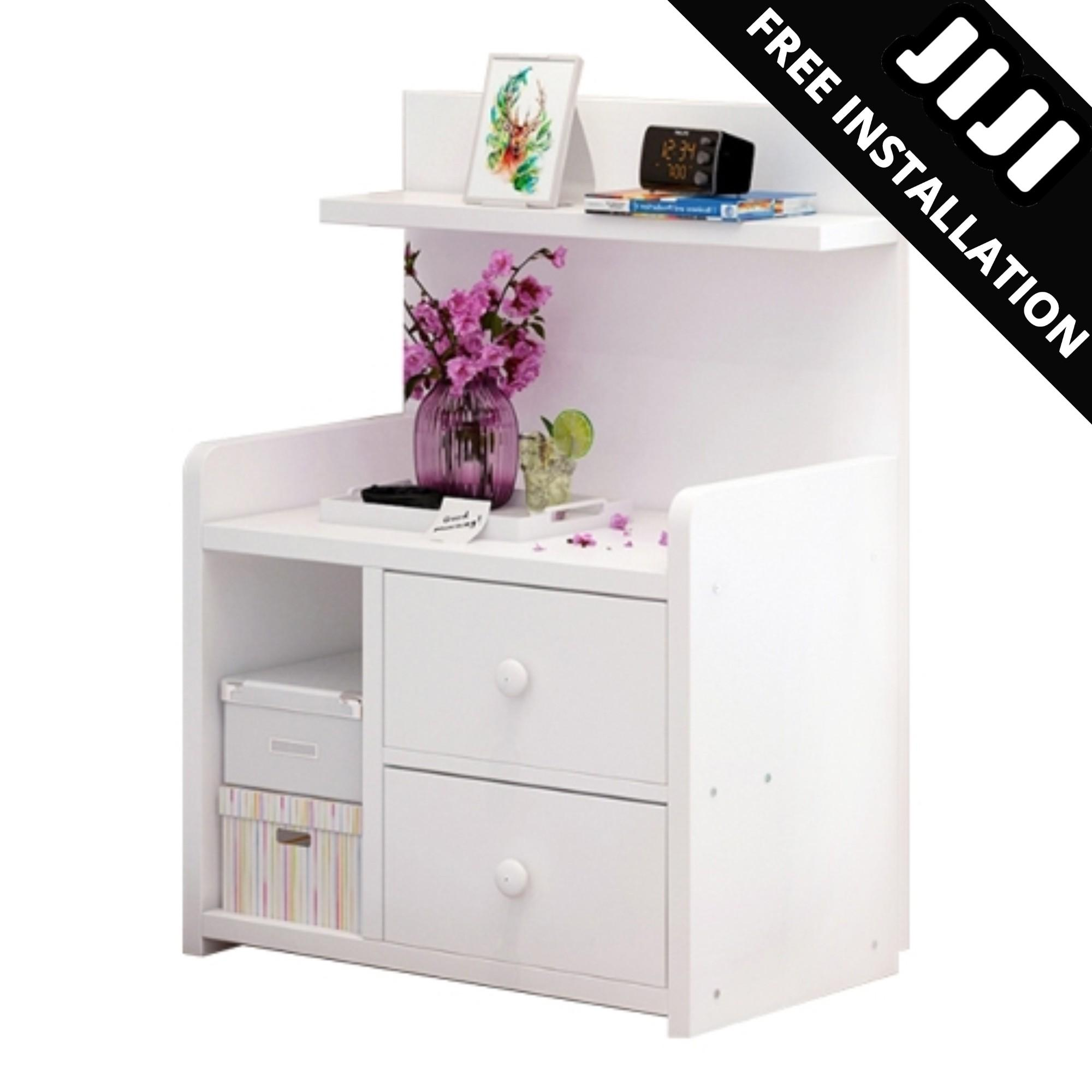 JIJI New Kayson Dual Bedside Table (Free Installation) - Bedroom / Furniture / Bedside Tables (SG)