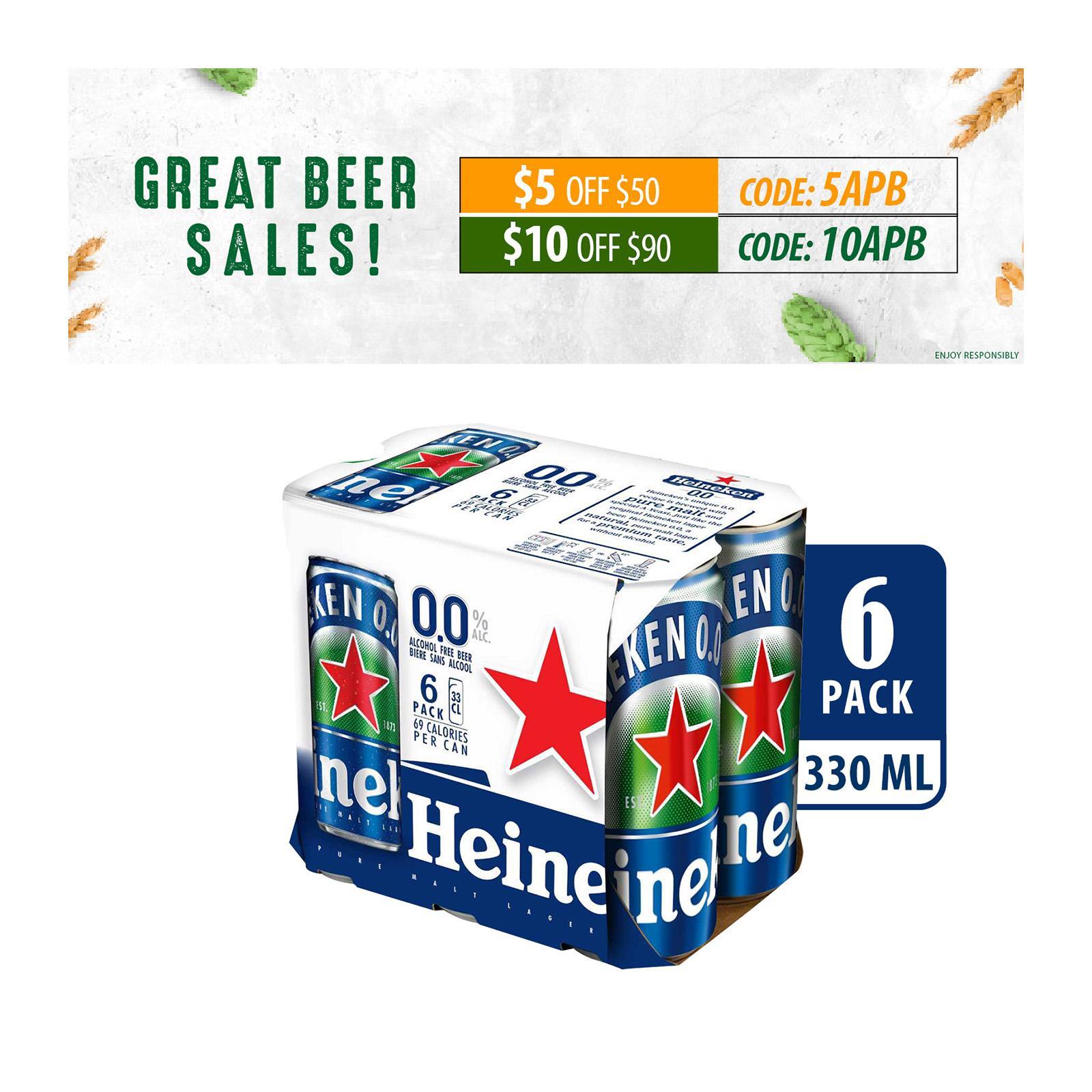 Heineken 0.0% Alcohol Free Can Beer