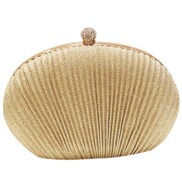 Lady Diamond Evening Clutch Bag Women Wedding Shiny Handbags Bridal Pleated Purse Bags Chain Shoulder Bag