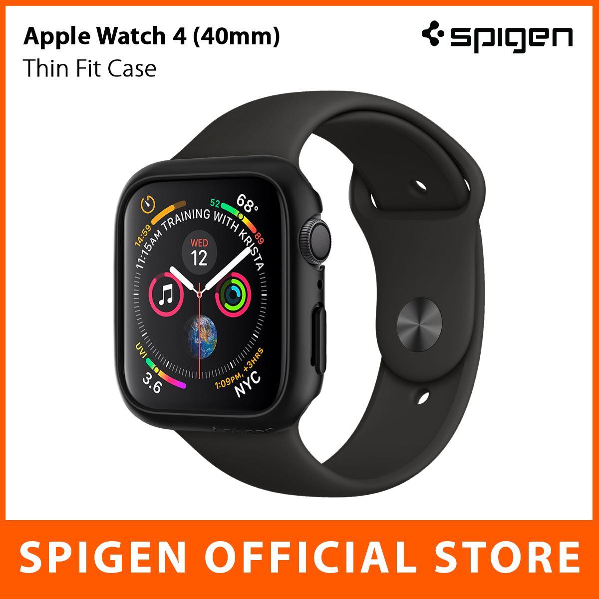 Spigen Apple Watch Series 4 Case Thin Fit (40mm) With Scratch Defense & Slim Design By Spigen Singapore Flagship Store.