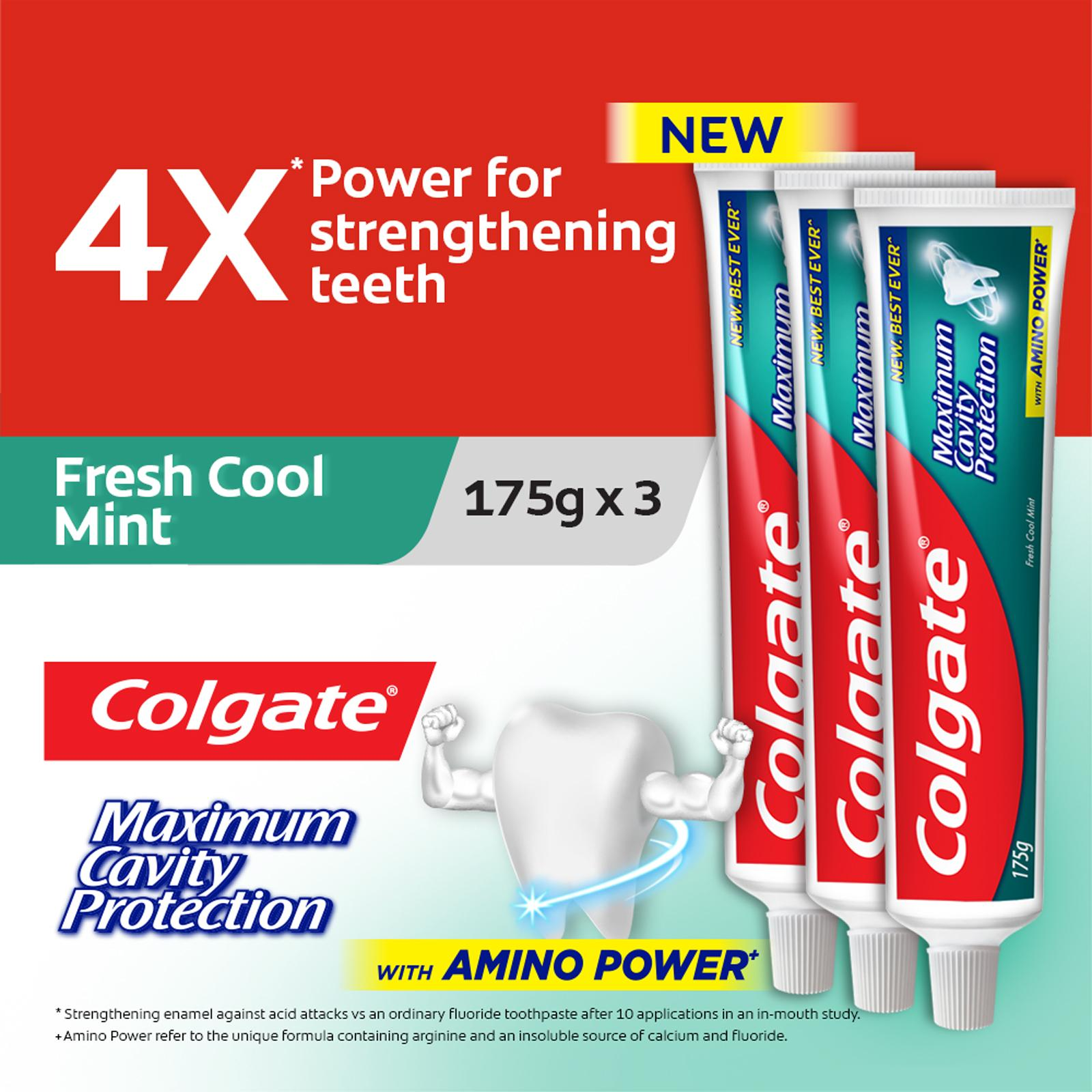 Colgate Maximum Cavity Protection Fresh Cool Mint ToothpasteValuepack175g x 3