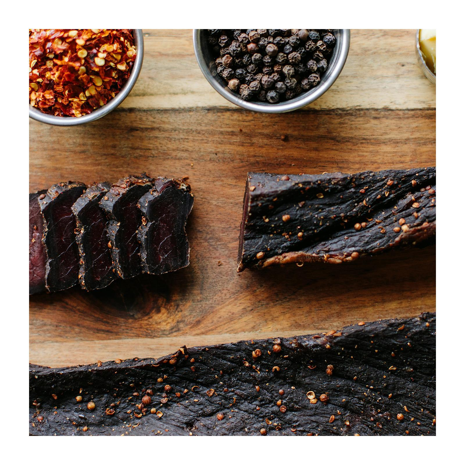 Baggie's Dried Beef Biltong Whole Pieces (Jerky)