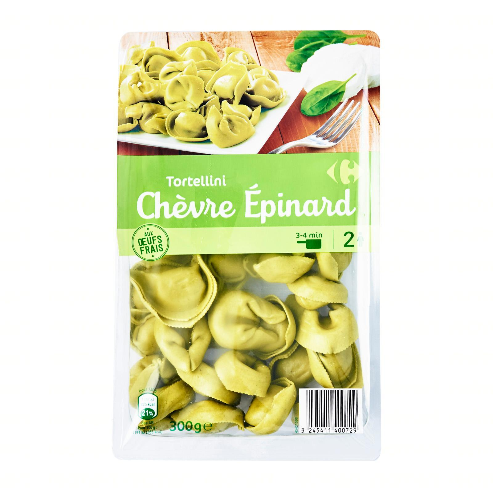 Carrefour Spinach/goat Fresh Tortellini - By Le Petit Depot By Redmart.