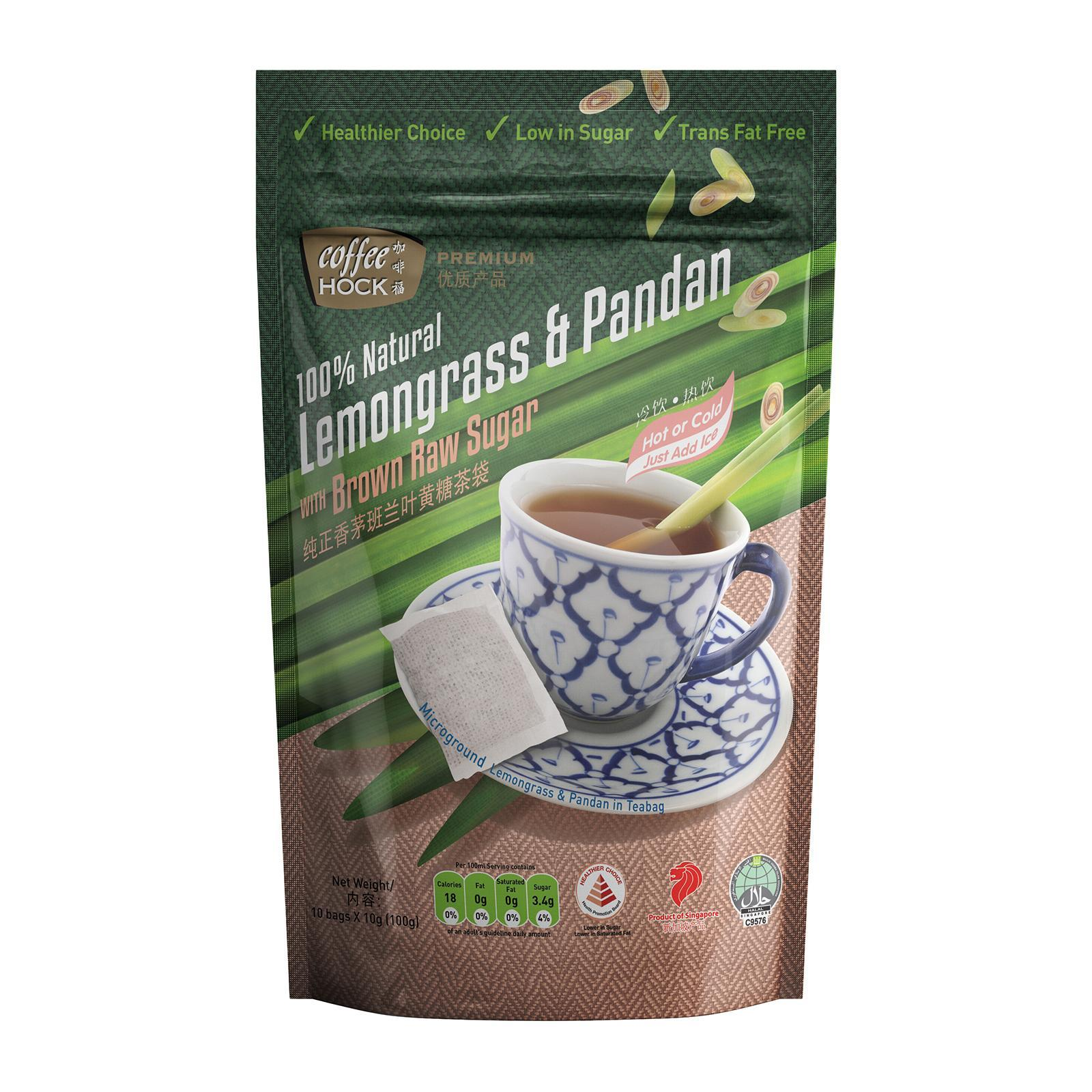 Coffeehock 100% Natural Lemongrass And Pandan Drink With Brown Raw Sugar Tea - By Prestigio Delights