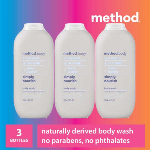Buy [Bundle of 3] method body wash - simply nourish 532ml Singapore