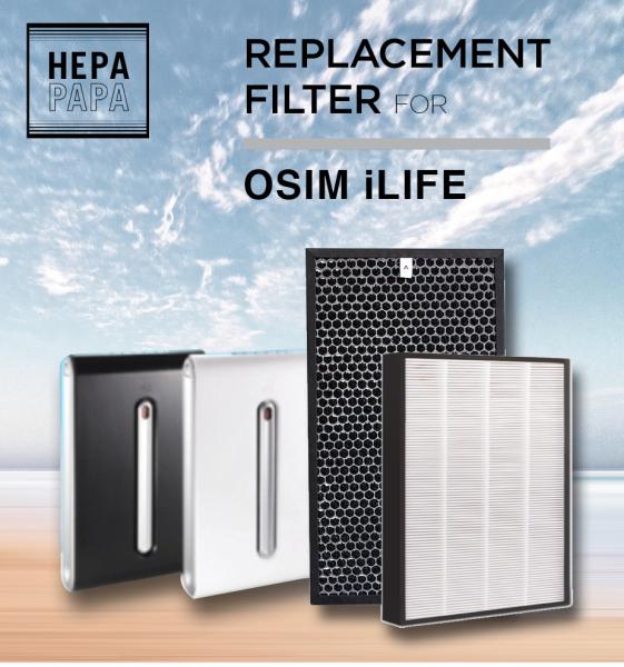 Osim iLife Air Purifier Compatible Replacement HEPA & Carbon Filter [Free Alcohol Swab] [SG Seller] [7 Days Warranty] [HEPAPAPA] Singapore