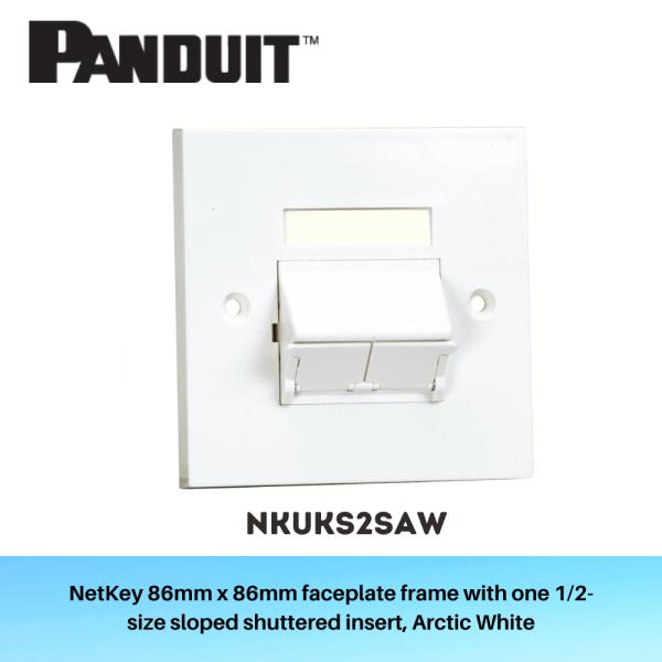 2-port Sloped Shuttered Faceplate NKUKS2SAW x 10 (Bundle)