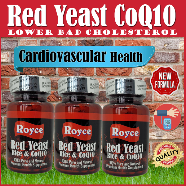 Buy Red Yeast Rice Co-Q10 Triple Pack (60x3) 180 Capsules - Lower Bad Cholesterol (LDL) levels Heart Health   Royce Premium Health Supplement Singapore