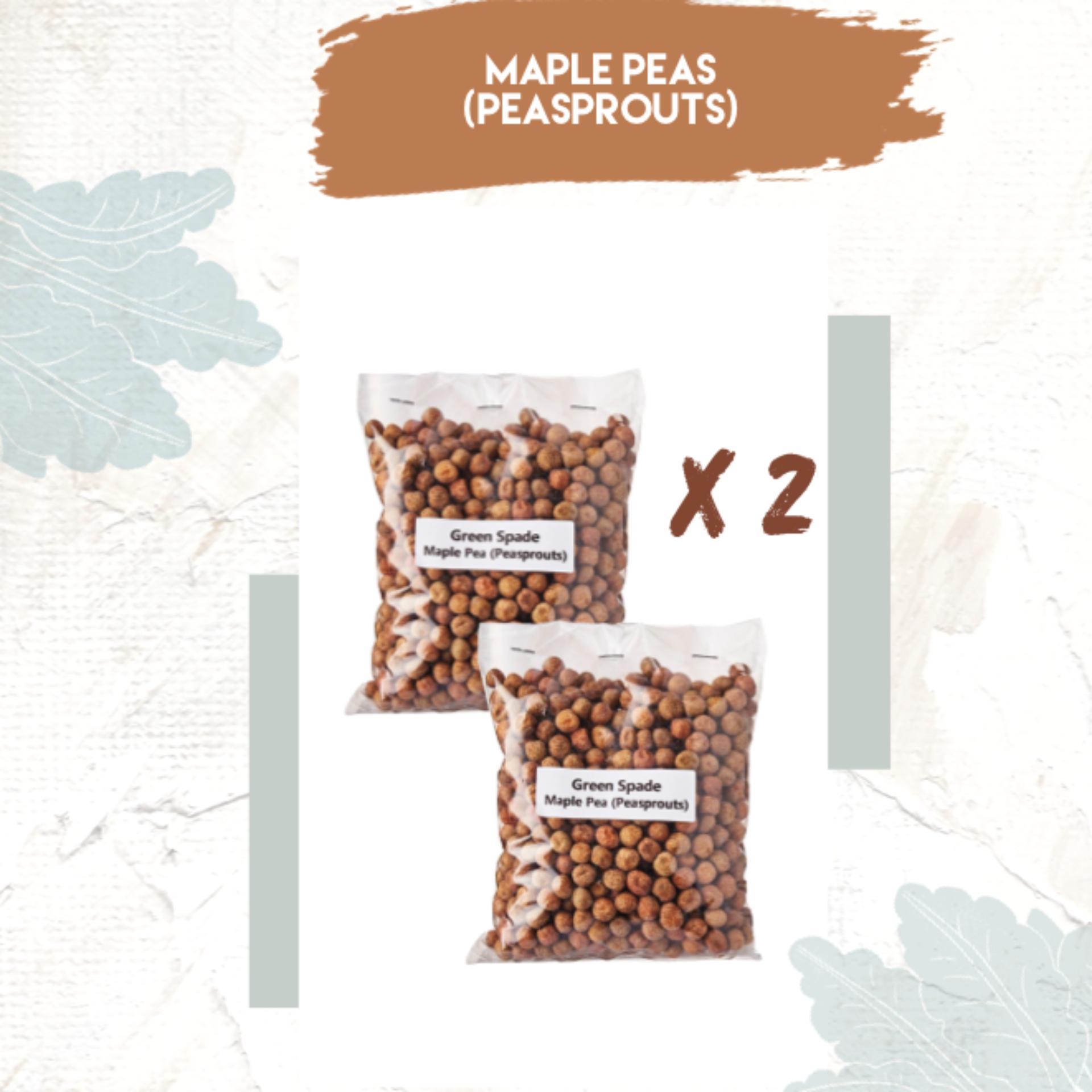 [Bundle] Maple Peas (Pea Sprouts) Microgreen Dou Miao Seeds x 2 PCS - Green Spade