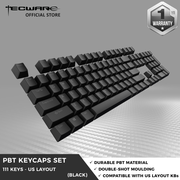 Tecware PBT Keycap Set Backlit Shine through Keycap sets (111 keys) [4 Color Options]