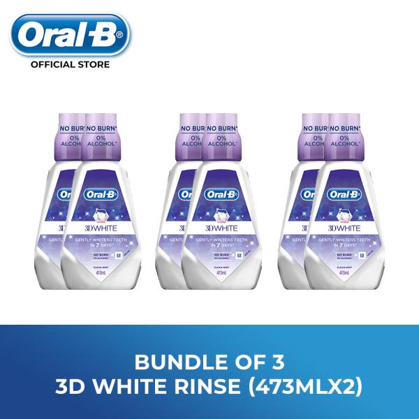 Buy [Bundle of 3] Oral B 3D White Rinse 473ml X 2 Singapore