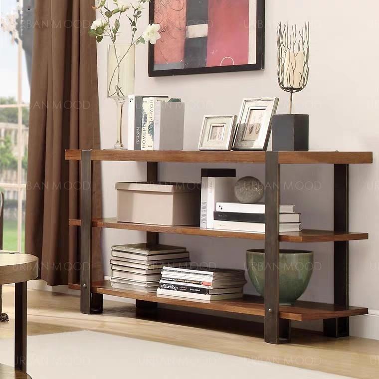BALDWIN Industrial Solid Wood Shelf