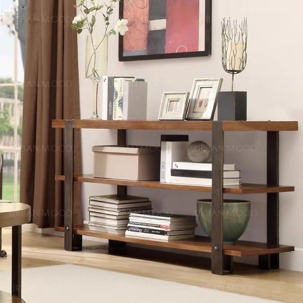 BALDWIN Industrial Solid Wood Shelf