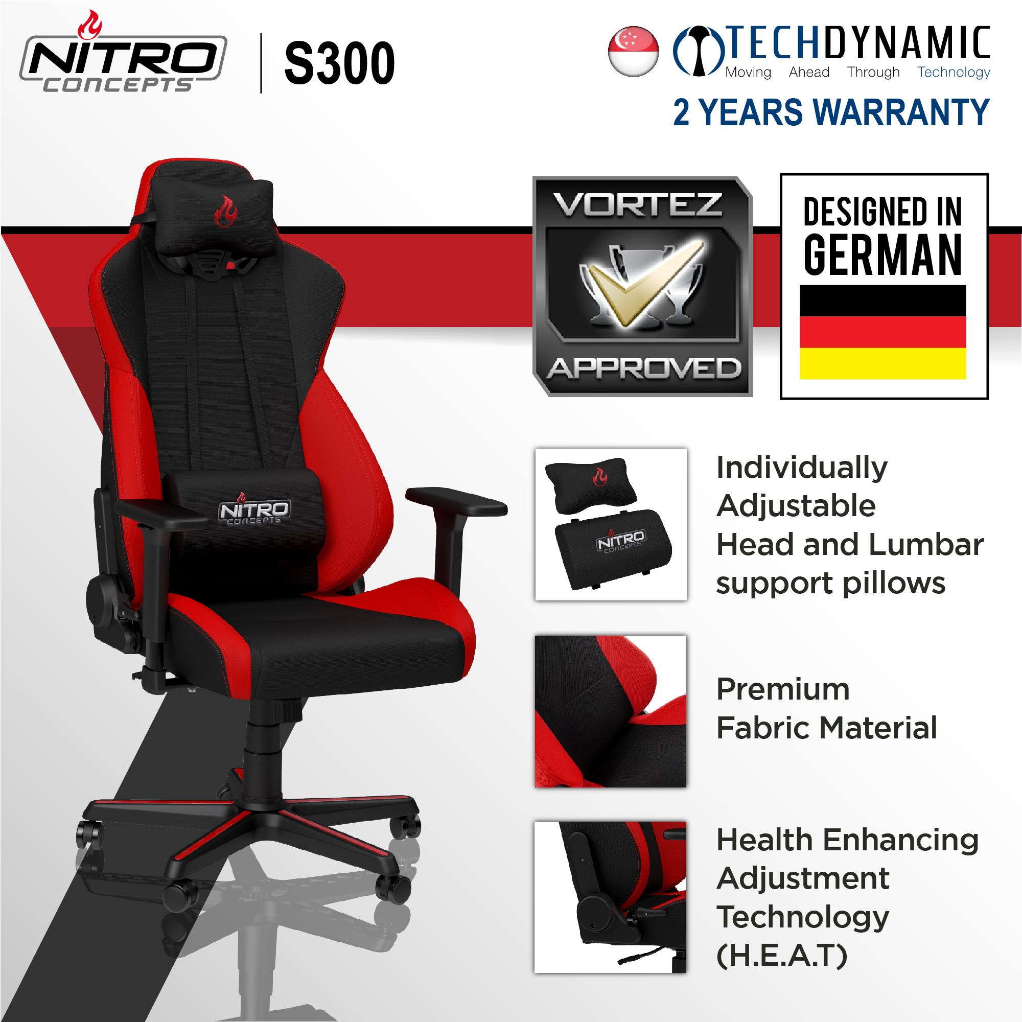 Remarkable Nitro S300 Fabric Gaming Chair Black Black Red Black White Available In 3 Colors Forskolin Free Trial Chair Design Images Forskolin Free Trialorg