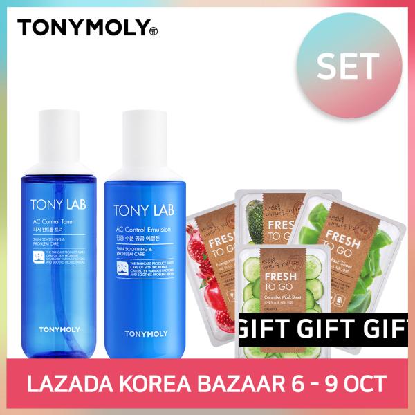 Buy [TONYMOLY] TONY LAB AC CONTROL TONER &  EMULSION (SET) Singapore