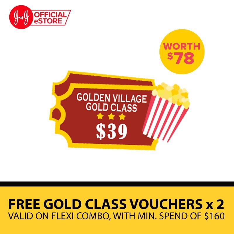 Buy Golden Village Gold Class Movie Ticket x2 (Worth: $78) Singapore