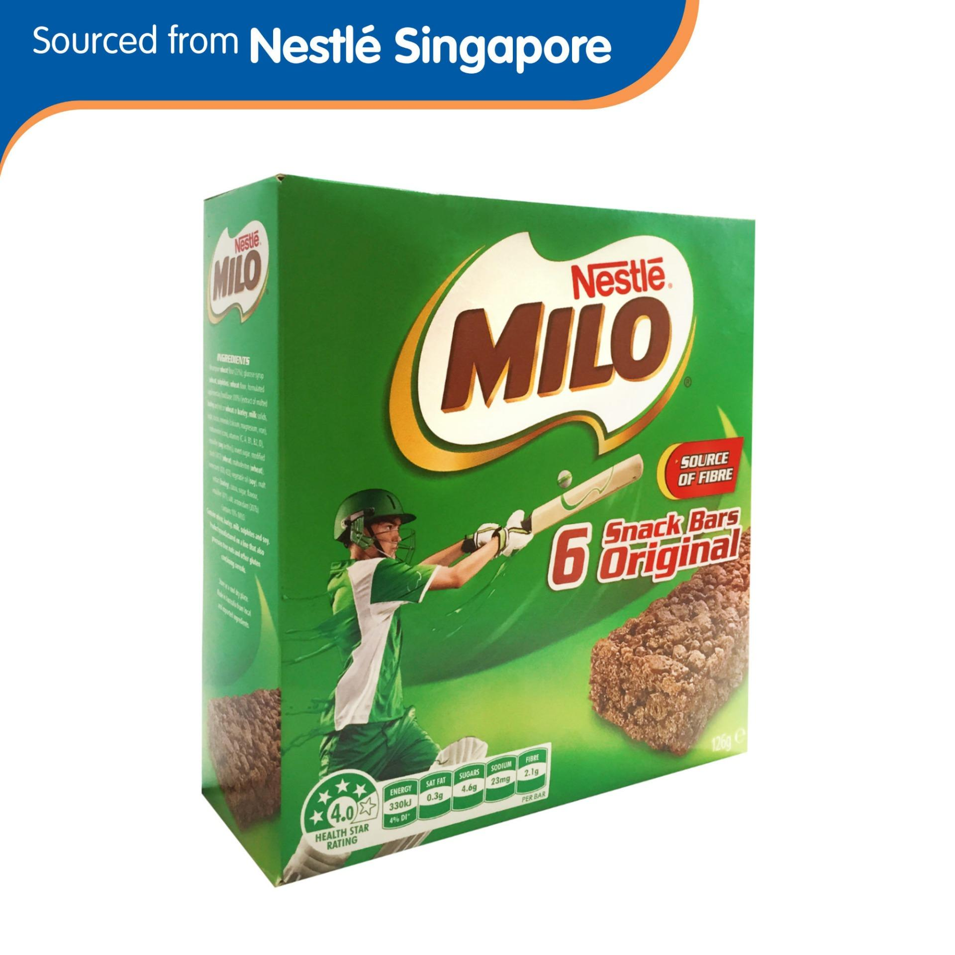 Milo Energy Snack Bar Original 126g By Nestle Official Store.