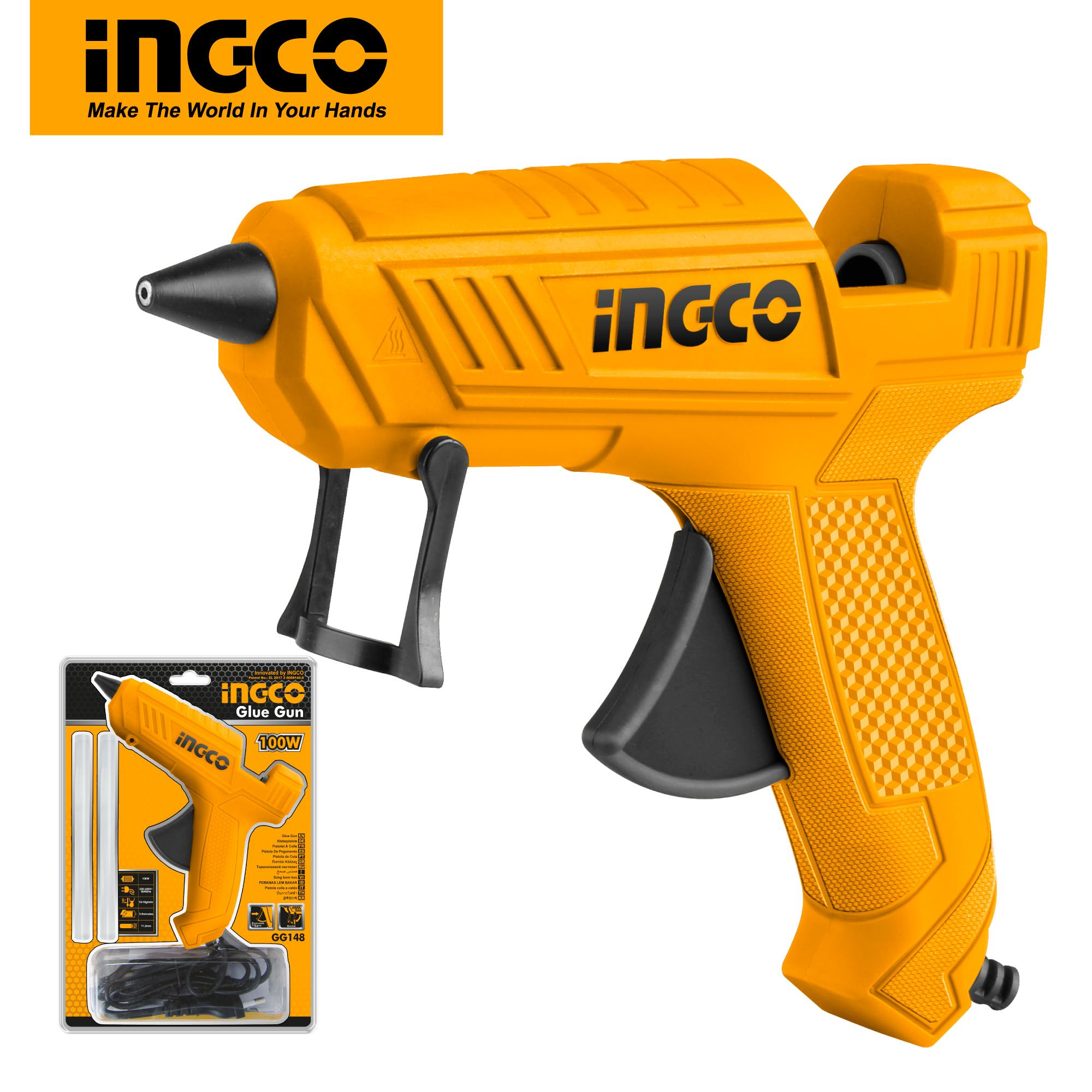 INGCO 20V Corded High Temperature Hot Glue Gun GG148