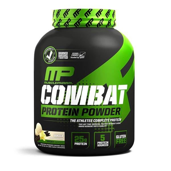 Buy Free Delivery 2-3 Days MusclePharm Combat Protein Powder 4 lbs Blend of Whey Isolate Casein and Egg Protein with BCAA and Glutamine for Recovery (Exp Aug 2021) GNC Singapore