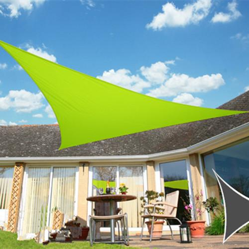 3.6x3.6x3.6m Triangle Sun Shade Sail Awning Canopy Waterproof Oxford 90% UV Blocking Outdoor Garden Sun Shelter UV Protection Plant Cover