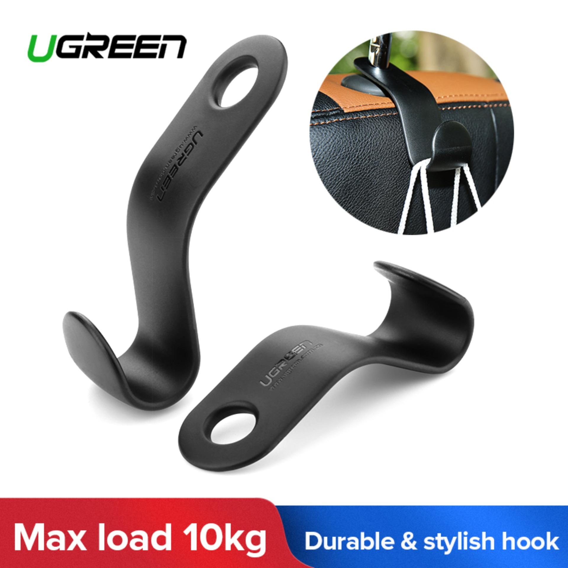 Ugreen 2pcs/set Car Back Seat Headrest Hanger Holder Hooks (black)-Intl By Ugreen Flagship Store.