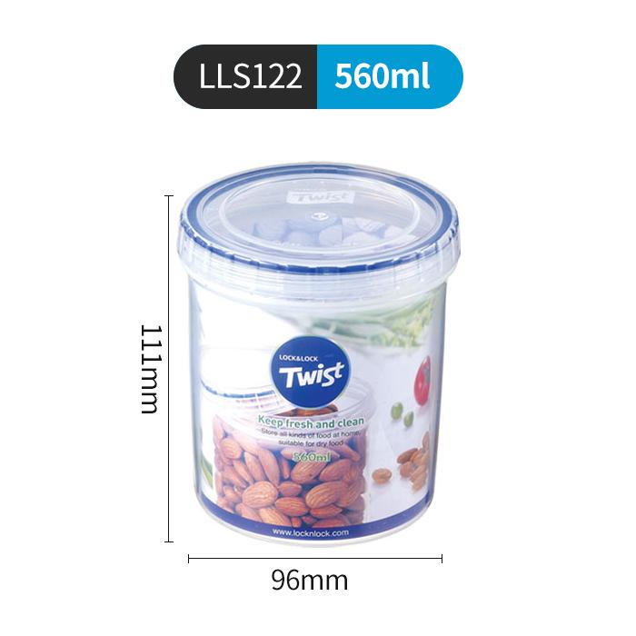 Lock&Lock Plastic Double Layer Freshness Box Flagship Store Fruit Seal  Storage Jar Portable Snacks Separated yyogurt he