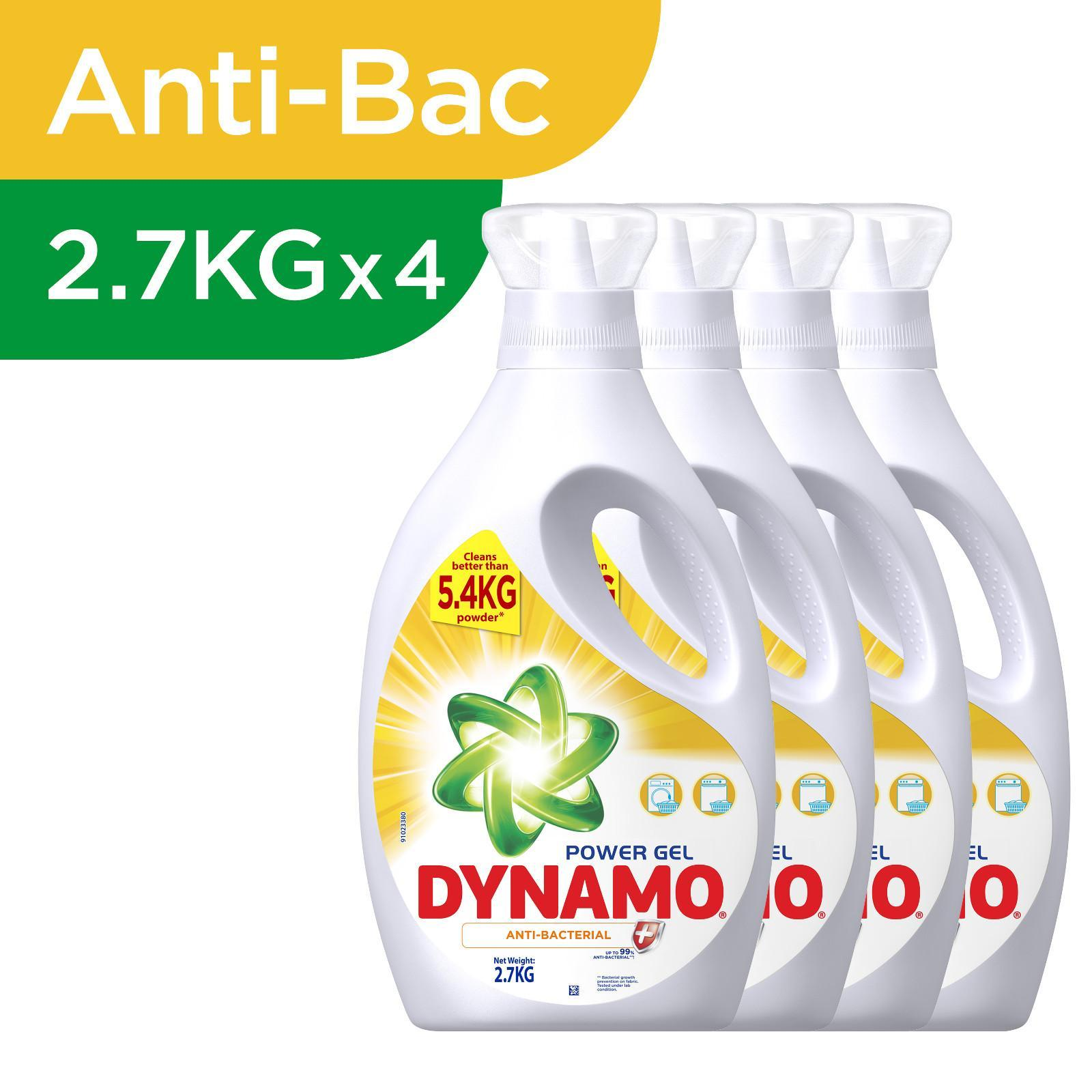 Dynamo Power Gel Anti-Bacterial Laundry Detergent - Case