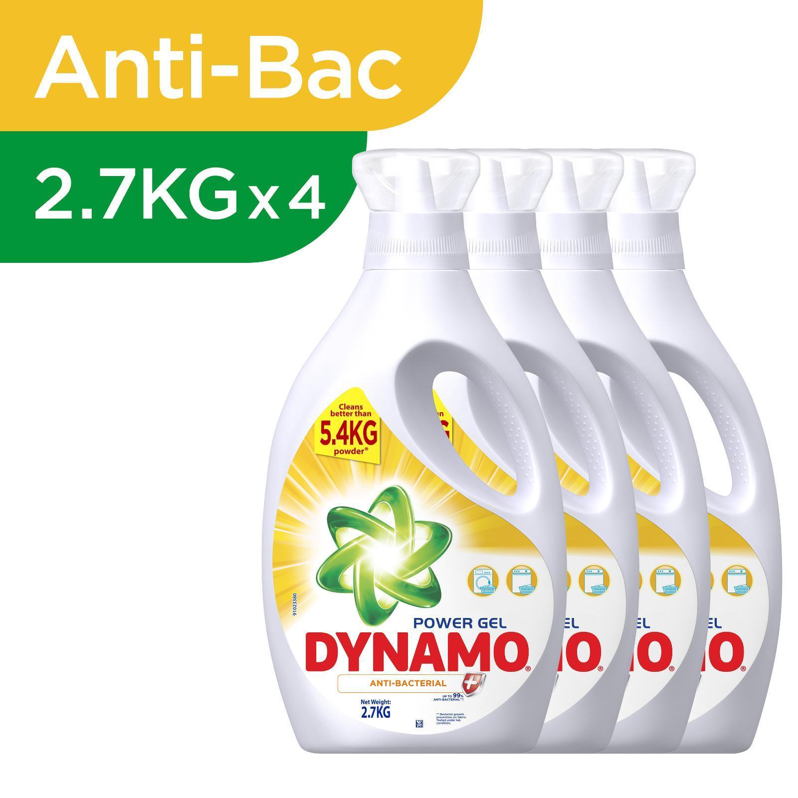 Dynamo Power Gel Anti-Bacterial Laundry Detergent - Case