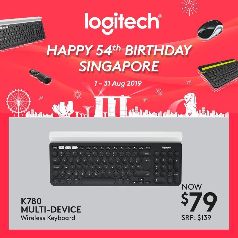 Logitech K780 Multi-Device Wireless Keyboard with Logitech FLOW Technology #LogitechCnPNationalDayPromo2019 Singapore