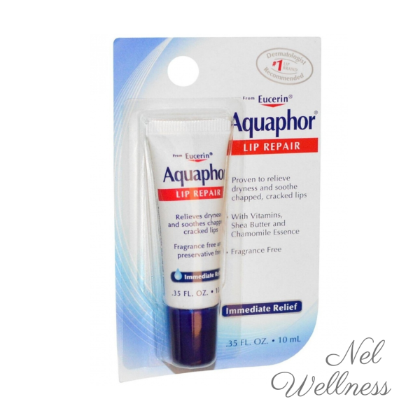 Buy [Great for Travel] Aquaphor Lip Repair Immediate Relief Fragrance Free 0.35 fl oz / 10 ml Dry Cracked Skincare Moisturizer Moisturiser Cream Balm Lotion Singapore