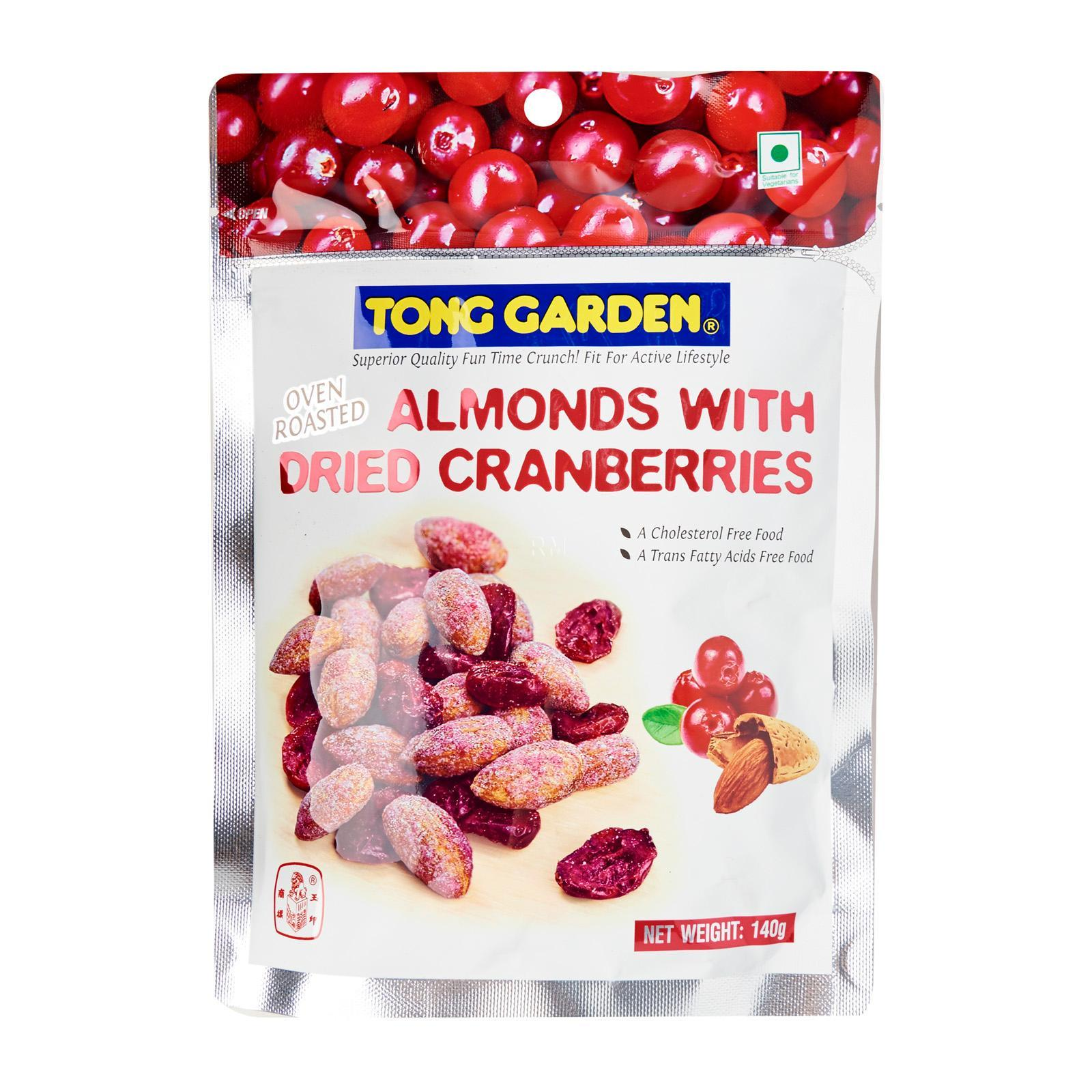 TONG GARDEN Almond With Dried Cranberries 140g