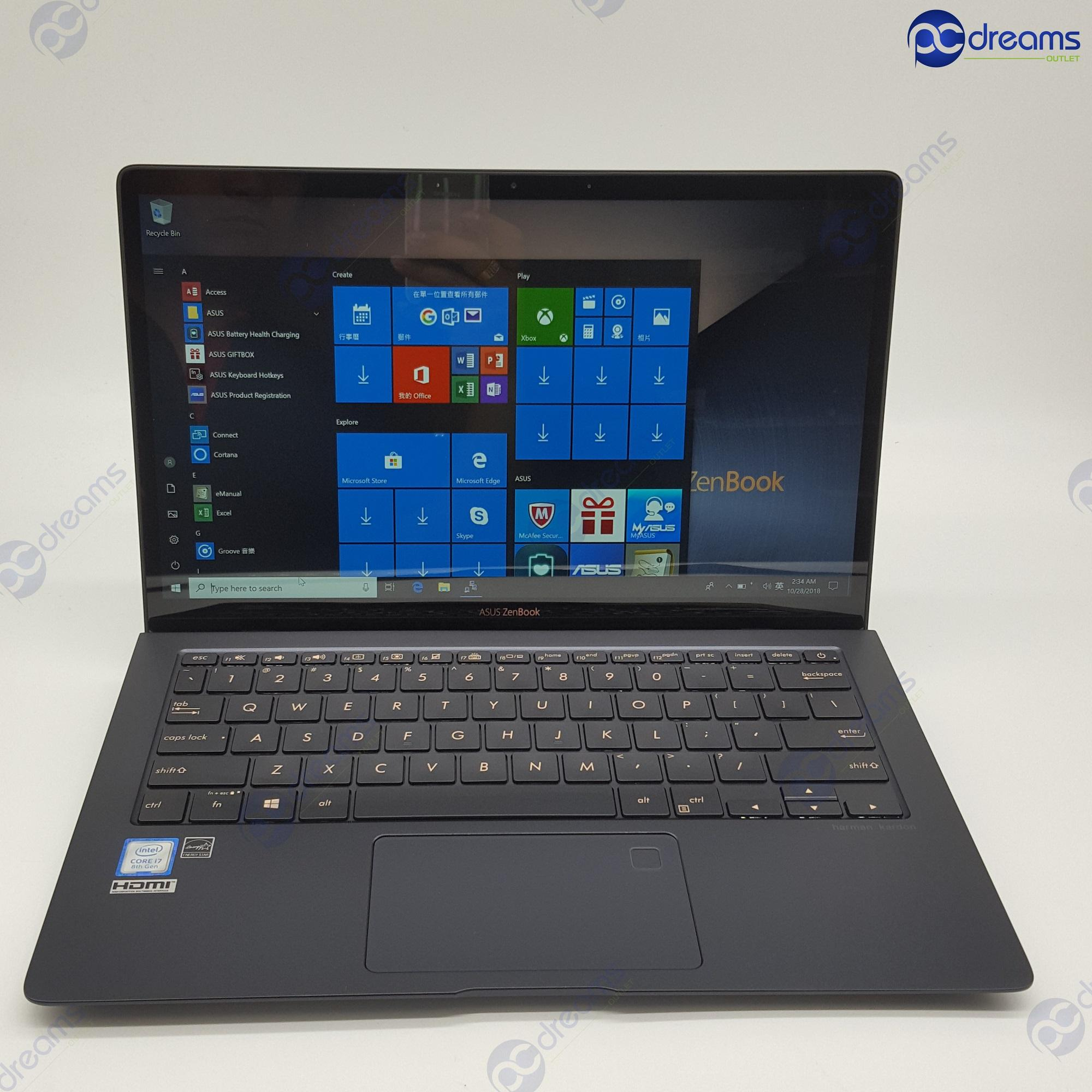 ASUS ZENBOOK UX391UA-ET012T i7-8550U/16GB/512GB PCIe SSD [New Reconditioned]