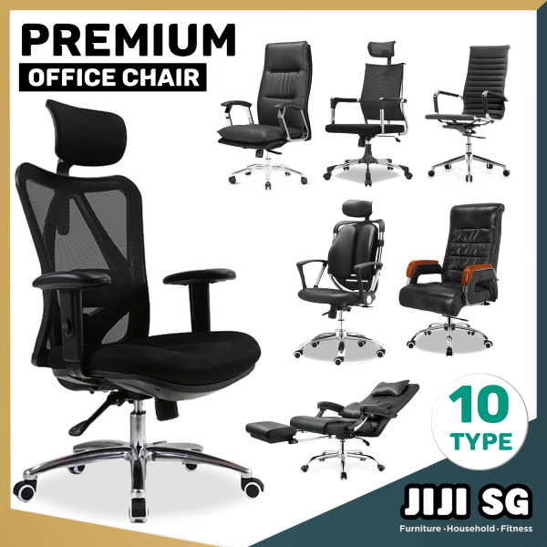 (Delivered in 4days)(JIJI SG) 2020 Premium Ergonomic Office Chair Series ★Leather/Mesh ★Performance ★Gaming Chair ★Aluminium ★ Free 12 Months Warranty (SG) Singapore