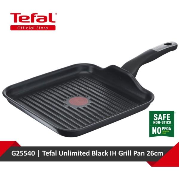Tefal Unlimited Black IH Grill Pan 26x26cm G25540 Singapore