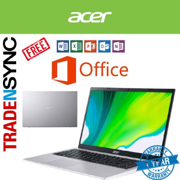 [Free MS Office] Acer Aspire A115-32-C7G0(SILVER)  | Intel Celeron N5100 ,2.8GHz | 15.6FHD Narrow Bezel Display | 4GB RAM | 64GB wMMC | 1.65kg | 1yr acer warranty
