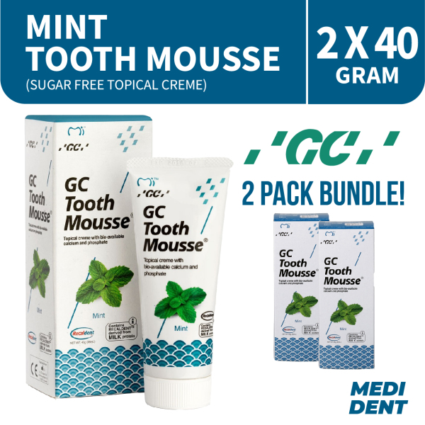 Buy GC TOOTHMOUSSE SUGAR FREE TOPICAL CREME MINT 40G [BUNDLE OF 2] Singapore