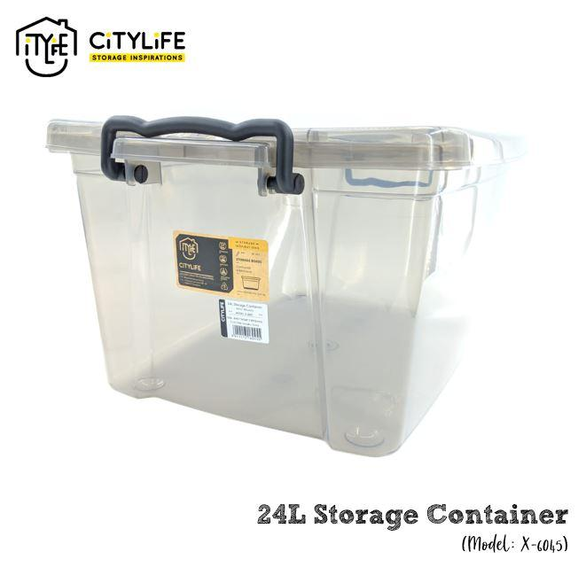 Citylife 24L Storage Box without Wheels - Bundle of 3