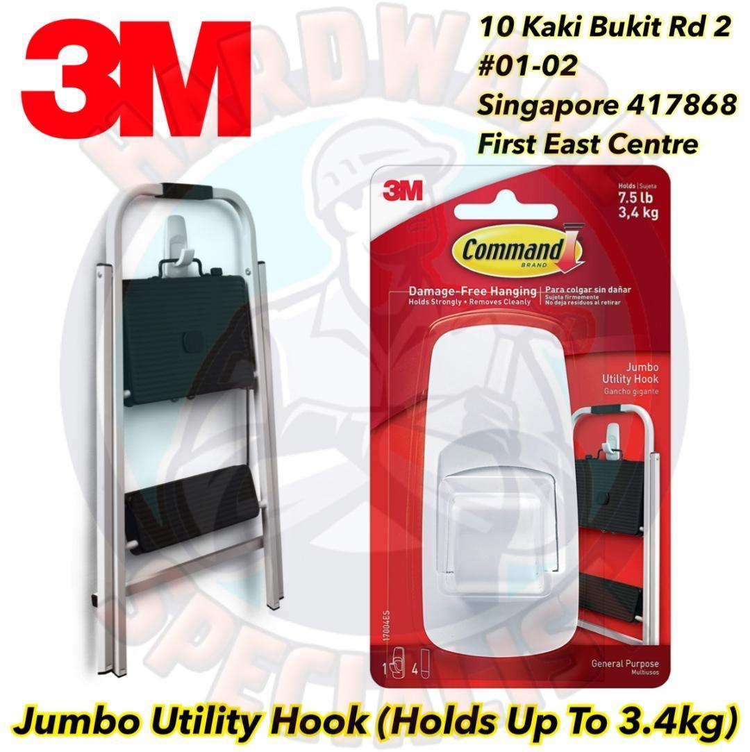 3M Command Jumbo Utility White Hook 170004