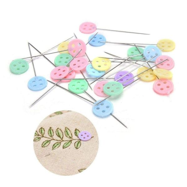400 Pcs Flat Button &Flower Head Pins,Straight Pins, Quilting Pins with Cases