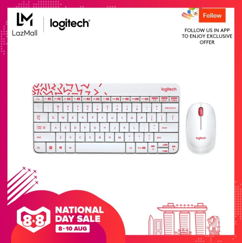 (Top Seller) Logitech MK240 Nano Wireless Keyboard and Mouse Combo Singapore