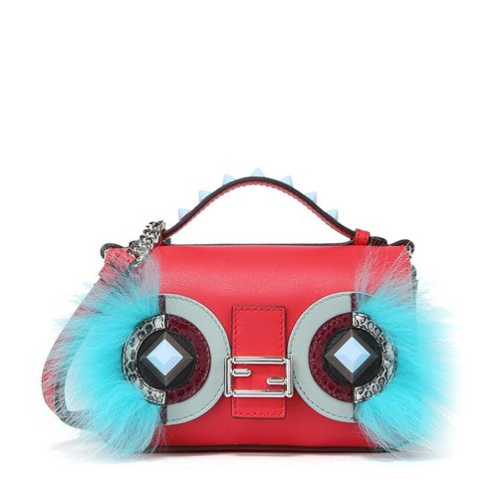7023d6a3 Fendi Double Micro Bag Bugs Baguette Bag (Red) # 8M03719F9F08SI