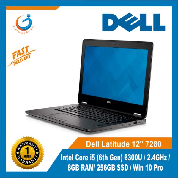 Dell Latitude 12 7280 / Intel Core i5 (6th Gen) 6300U / 2.4GHz / 8GB RAM/ 256GB SSD / Win 10 Pro