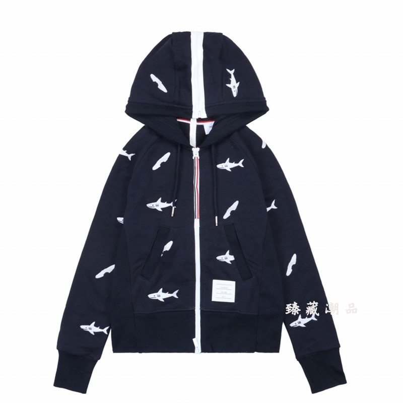 2019 Fashion THOM BROWNE Men Women hoodie Sweatshirt Long Sleeve coat NEW