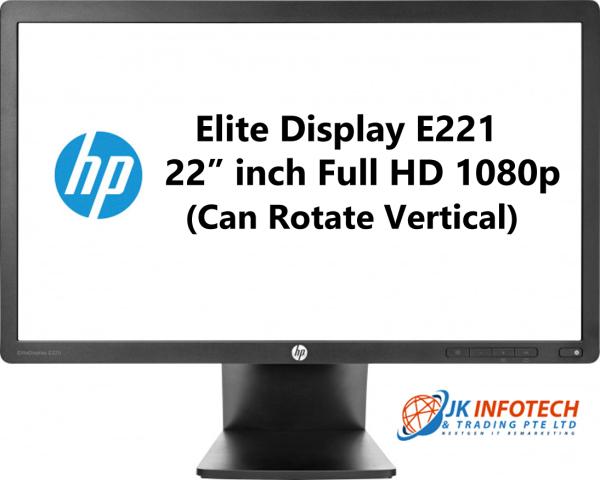 (Refurbished) HP Elite Display E221 22 inch LED screen (Can Rotate Vertical)