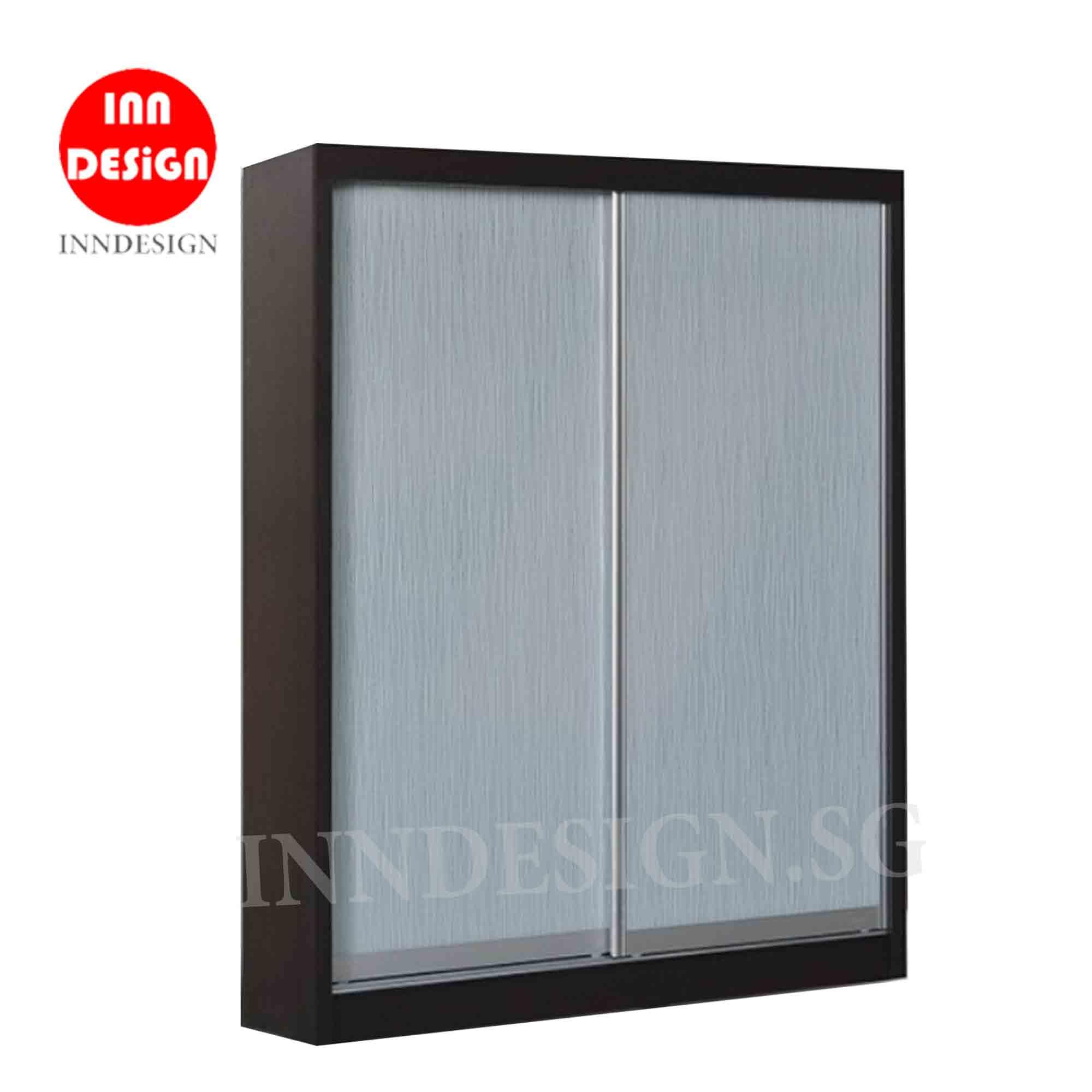 5ft Sliding Wardrobe (Fully Assembled and Free Delivery) (Walnut) (Deliver Within 2 Working Days)