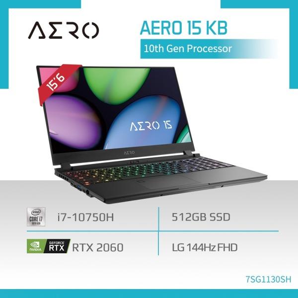 GIGABYTE AERO 15 KB (i7-10750H/16GB SAMSUNG DDR4 2933 (8GBx2)/GeForce RTX 2060 GDDR6 6GB/512GB M.2 PCIE SSD/15.6inch Thin Bezel LG 144Hz Display/WINDOWS 10 HOME) [Ships 2-5 days]
