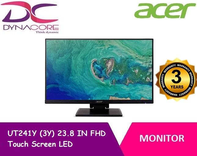 Acer UT241Y (3Y) 23.8 IN FHD Touch Screen LED Monitor