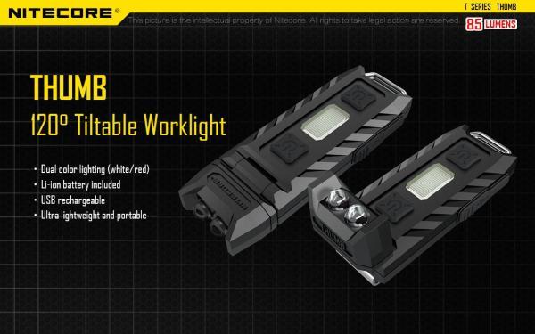 Nitecore Thumb Rechargeable LED Key-Chain Flashlight